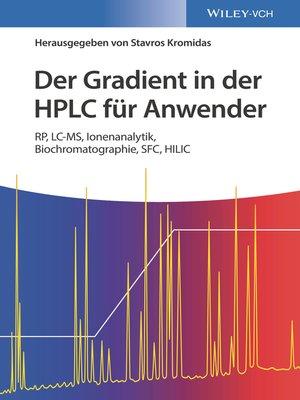 cover image of Der Gradient in der HPLC für Anwender
