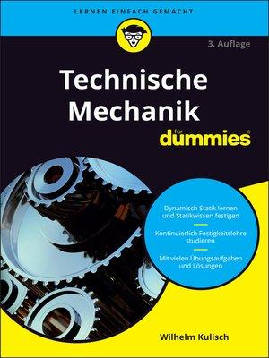 cover image of Technische Mechanik für Dummies