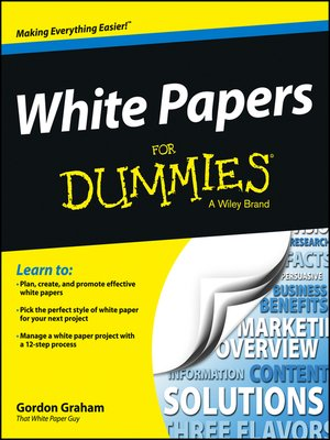 cover image of White Papers For Dummies
