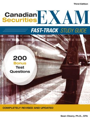 canadian securities exam fast track study guide ebook