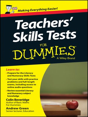 cover image of Teacher's Skills Tests For Dummies