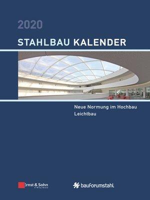 cover image of Stahlbau Kalender 2020