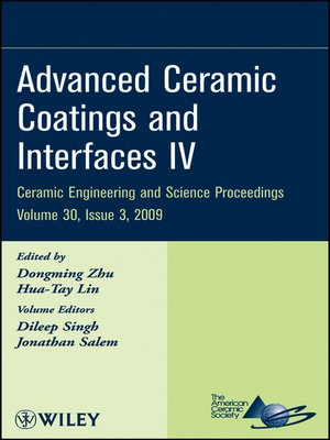 cover image of Advanced Ceramic Coatings and Interfaces IV