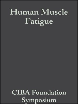 cover image of Human Muscle Fatigue