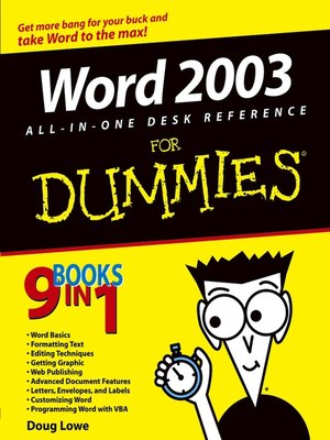 cover image of Word 2003 All-in-One Desk Reference For Dummies