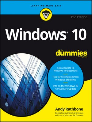 cover image of Windows 10 For Dummies