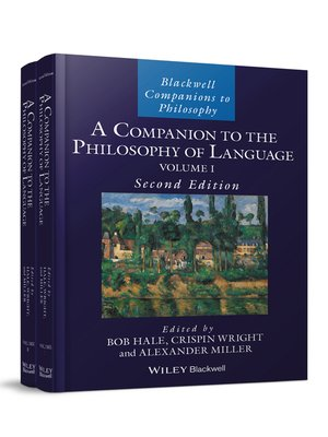 cover image of A Companion to the Philosophy of Language