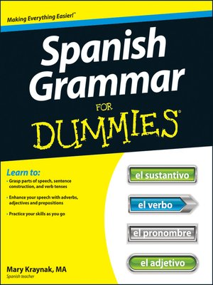 cover image of Spanish Grammar For Dummies