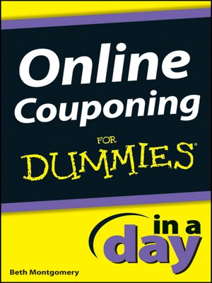 cover image of Online Couponing In a Day For Dummies