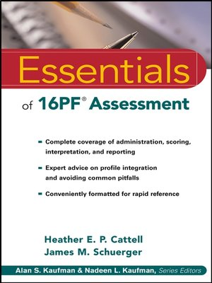 cover image of Essentials of 16PF Assessment