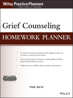 cover image of Grief Counseling Homework Planner