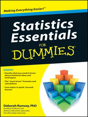cover image of Statistics Essentials For Dummies