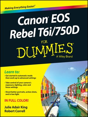 cover image of Canon EOS Rebel T6i / 750D For Dummies