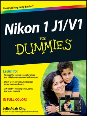 cover image of Nikon 1 J1/V1 For Dummies