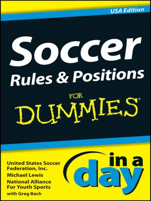 cover image of Soccer Rules and Positions In a Day For Dummies