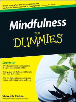 cover image of Mindfulness For Dummies