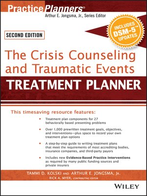 Practiceplannersseries overdrive rakuten overdrive ebooks cover image of the crisis counseling and traumatic events treatment planner with dsm 5 fandeluxe Image collections