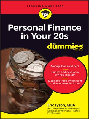 cover image of Personal Finance in Your 20s For Dummies