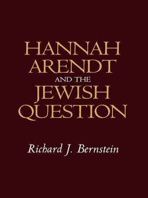 cover image of Hannah Arendt and the Jewish Question