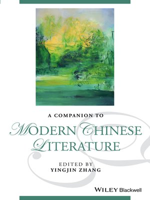 cover image of A Companion to Modern Chinese Literature
