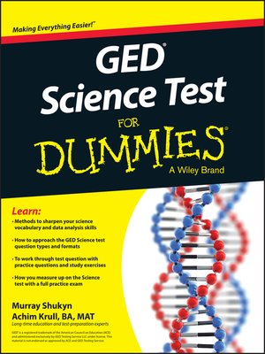 cover image of GED Science for Dummies