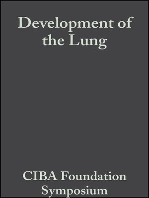 cover image of Development of the Lung