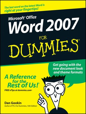 cover image of Word 2007 For Dummies