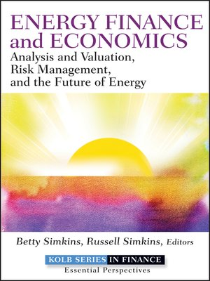 cover image of Energy Finance and Economics