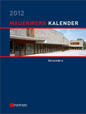 cover image of Mauerwerk-Kalender 2012