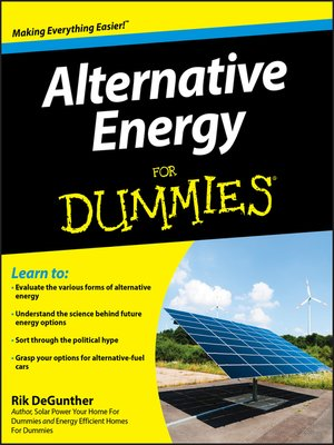 cover image of Alternative Energy For Dummies®