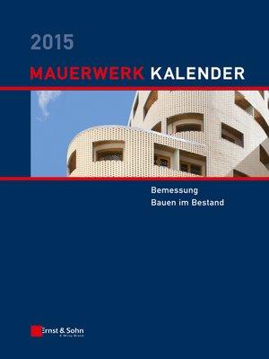 cover image of Mauerwerk-Kalender 2015