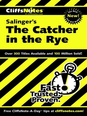 cover image of CliffsNotes on Salinger's The Catcher in the Rye