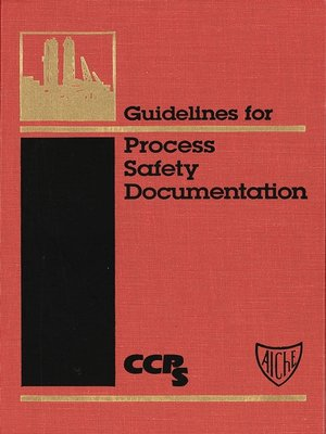 cover image of Guidelines for Process Safety Documentation