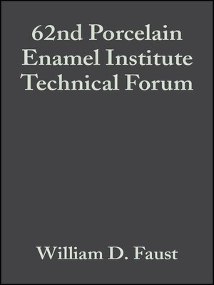 cover image of 62nd Porcelain Enamel Institute Technical Forum