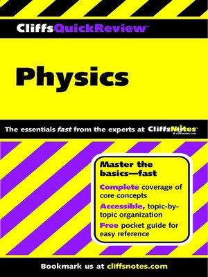 cover image of CliffsQuickReview Physics