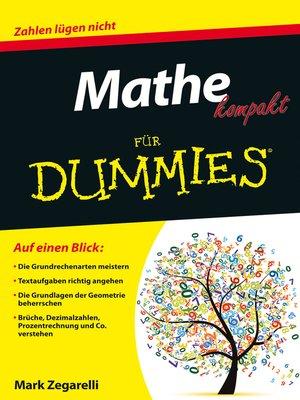 cover image of Mathe kompakt für Dummies