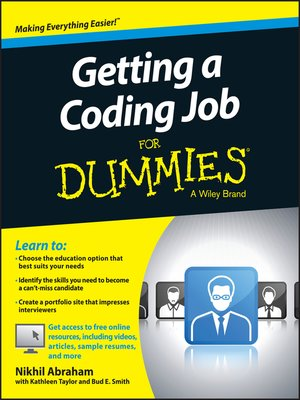 cover image of Getting a Coding Job For Dummies