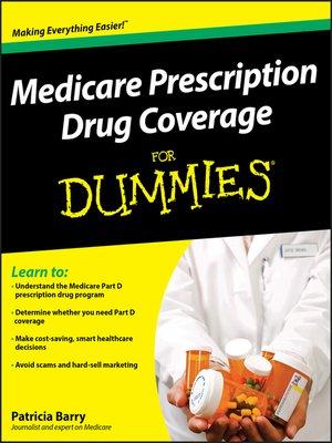 cover image of Medicare Prescription Drug Coverage For Dummies®
