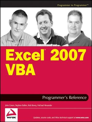 cover image of Excel 2007 VBA Programmer's Reference