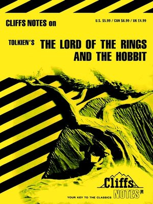 cover image of CliffsNotes on Tolkien;s The Lord of the Rings & The Hobbit