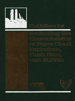 cover image of Guidelines for Evaluating the Characteristics of Vapor Cloud Explosions, Flash Fires, and BLEVEs