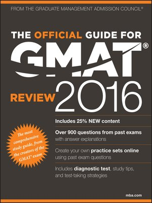 cover image of The Official Guide for GMAT Review 2016 with Online Question Bank and Exclusive Video