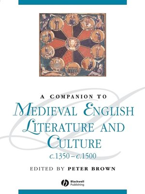 cover image of A Companion To Medieval English Literature and Culture c.1350-c.1500