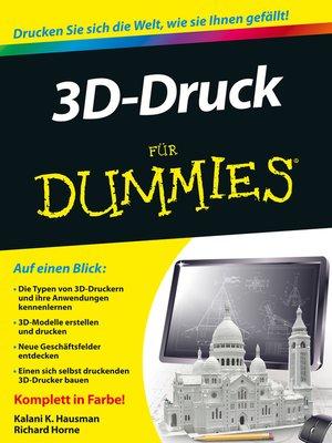 cover image of 3D-Druck für Dummies