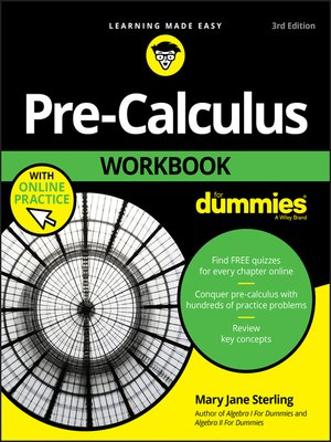 cover image of Pre-Calculus Workbook For Dummies
