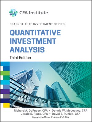 Quantitative Investment Analysis By Richard A Defusco  Overdrive