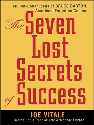 cover image of The Seven Lost Secrets of Success