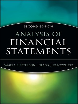 cover image of Analysis of Financial Statements