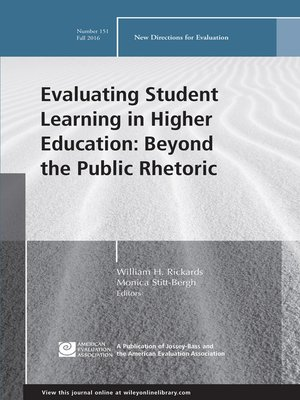 cover image of Evaluating Student Learning in Higher Education