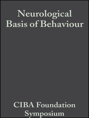 cover image of Neurological Basis of Behaviour